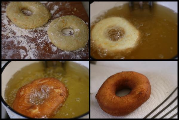 making Orange-Fennel Cake Doughnuts