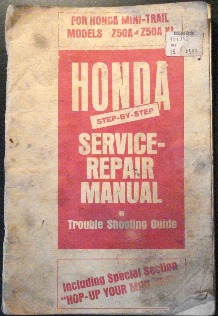 Service / Repair Manual For Honda Mini-Trail Models Z50A - Z50 K1 + How To  Hop-Up Your Mini-Trail ( Z50, Monkey )