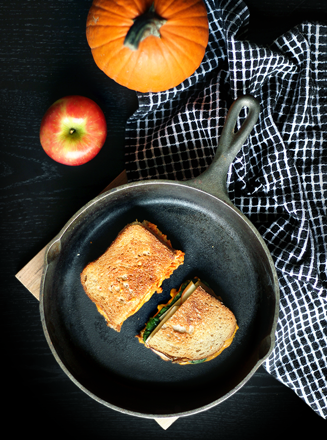 Autumn VEGAN Grilled Cheese 2 Ways