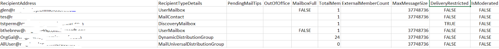 Glen's Exchange and Office 365 Dev Blog: Dumping out the MailTips