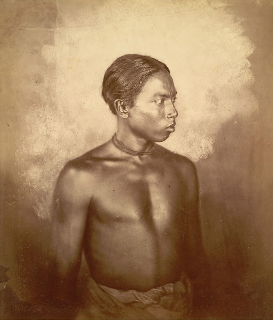 Portrait of a Manipuri man - c1860's