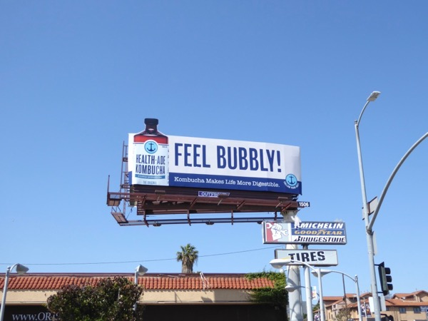 Feel Bubbly Kombucha extension billboard