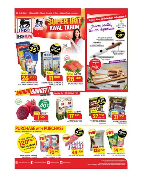 Katalog Super Hemat Super Indo Bandung, Sukabumi, Cirebon, Tegal dan Lampung 24 Januari sampai 30 Januari 2019
