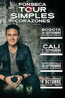 """Concierto de FONSECA """"Simples Corazones Tour"""" Colombia"""