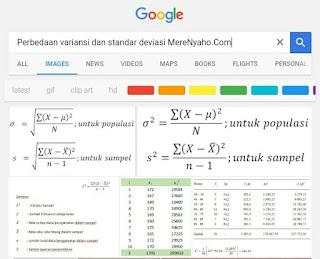 variansi dan standar deviasi, Perbedaan variansi dan standar deviasi, pengertian variansi, dan pengertian standar deviasi,