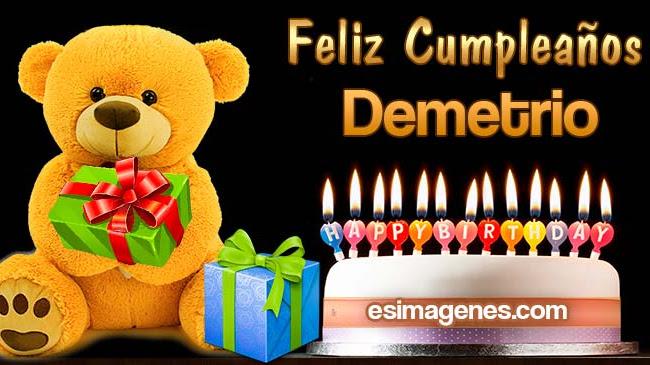Feliz cumpleaños Demetrio