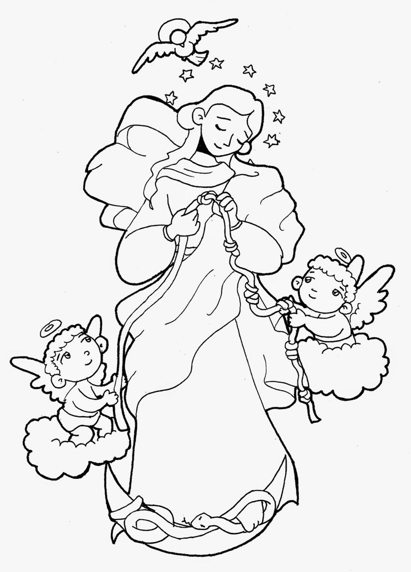 Dibujos Para Catequesis Virgen Desatanudos