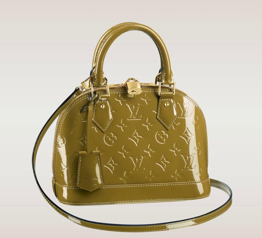 7a68827c0c25 Louis Vuitton Alma BB Vernis New Colours
