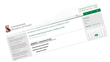 Vestibular Especial para Cursos a Distância 2018 UECE