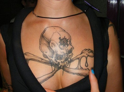 Remarkable Girls Chest Tattoo Designs For 2011-12