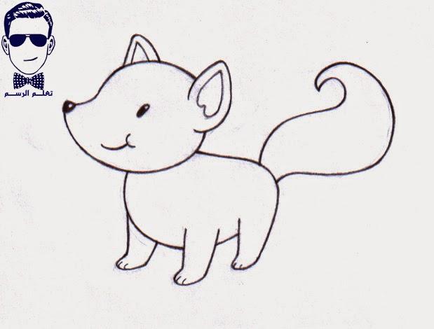 تعلم الرسم كيفية رسم ثعلب كارتوني للأطفال مع الخطوات للمبتدئين