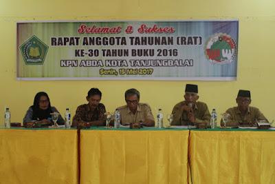 Kakankemenag Tanjungbalai Buka RAT Ke-30 Tahun Buku 2016