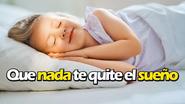 No pierdas el sueño