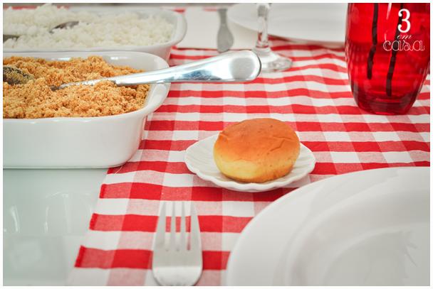decoração para um almoço em família