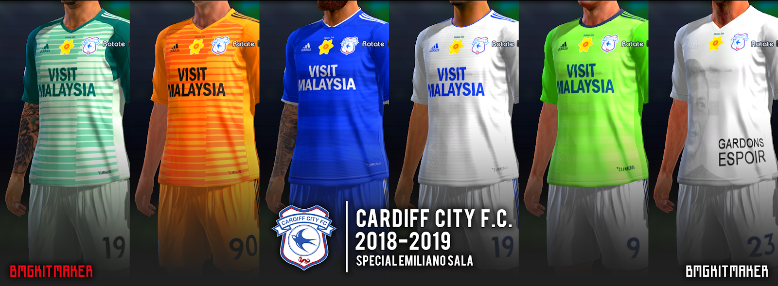 CARDIFF CITY F.C. KIT 2018-2019 for PES 2013 by BMGKITMAKER
