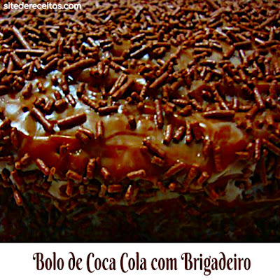 Bolo de Coca-cola com brigadeiro