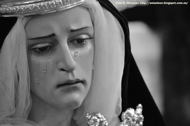 María Santísima del Mayor Dolor en su Soledad. Pablo Lanchares. 2013. Cofradía Santo Cristo del Desenclavo. León. Foto. G. Márquez.