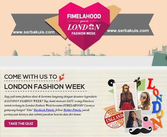 Kontes Berhadiah ke London Fashion Week