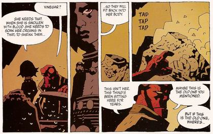 Hellboy smells something is not quite right...