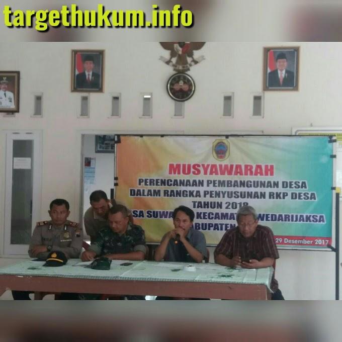 Danramil 07 Wedarijaksa, Muspika Dan Warga Siap Mendukung Program Penyusunan RKP Pembangunan Desa 2017