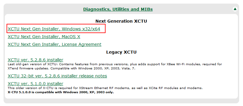 XCTU - Download Windows