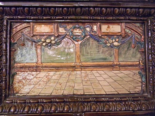 kafel, dekoracja, stare piece