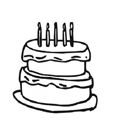 Gambar Mewarnai Kue Ulang Tahun - 8