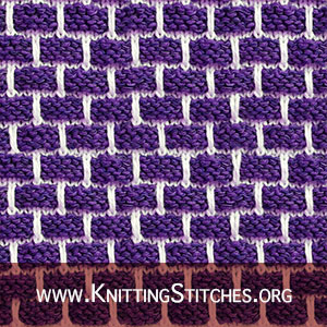 Ballband stitch AKA Brick stitch, Brick wall stitch | Knitting Stitch Patterns. This is one of my favorite patterns for dishcloths.
