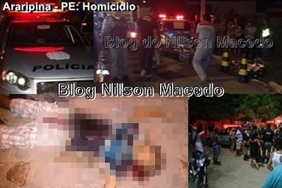 ARARIPINA-PE: Jovem de 22 anos é tiros e facadas no cavalete I