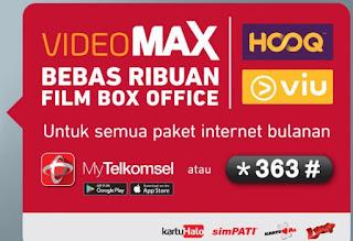 Videomax bebas ribuan film box office untuk paket internet bulanan Cara Menggunakan Quota Videomax Telkomsel