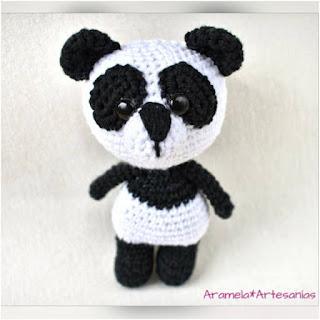 patron amigurumi Oso panda aramela artesanias