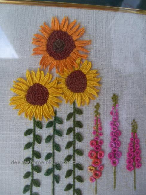 Two Lovely Dimensional Embroidery Pieces