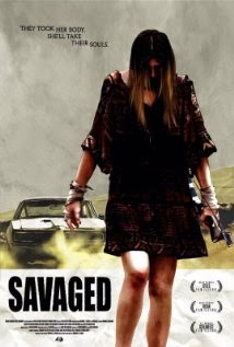 Film poster for Savaged, supernatural revenge flick releasing at Avenged worldwide on April 21st.