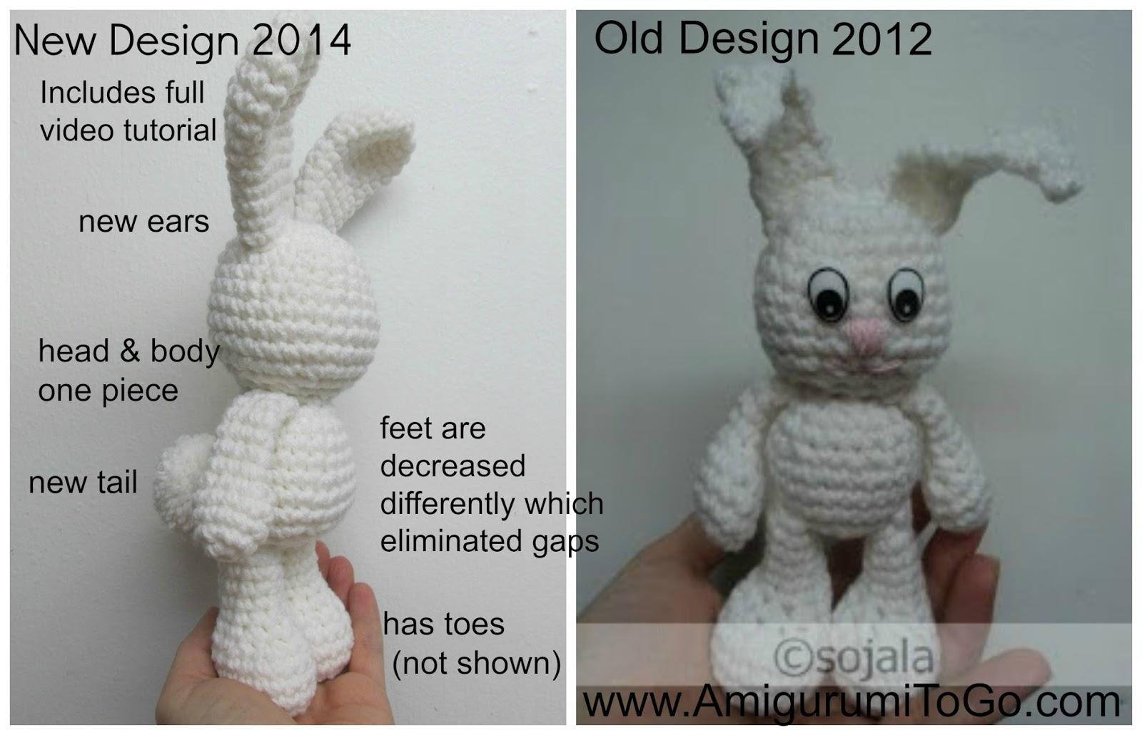 Amigurumi Bunny Ears : Amigurumi ears rounded demo youtube