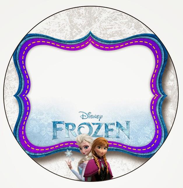 Toppers o etiquetas de Frozen para imprimir gratis.
