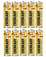 Shopclues Jaw Dropping Deal: Eveready Heavy Duty AA Battery (Pack of 10) worth Rs.110 for Rs.63 Only
