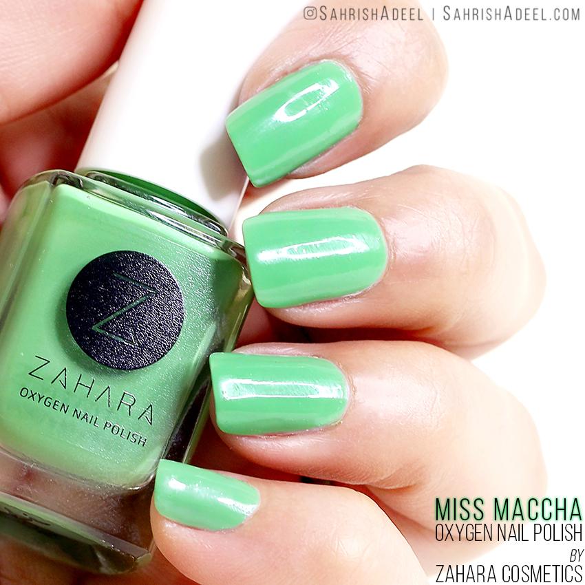 Halal, Breathable & Wudhu Friendly - Oxygen Nail Polish by Zahara Cosmetics - Swatches & Discount Code