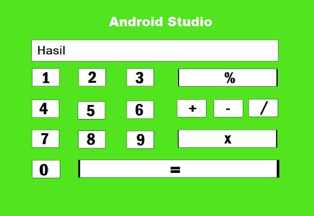 contoh cara membual kalkulator di anroid studio