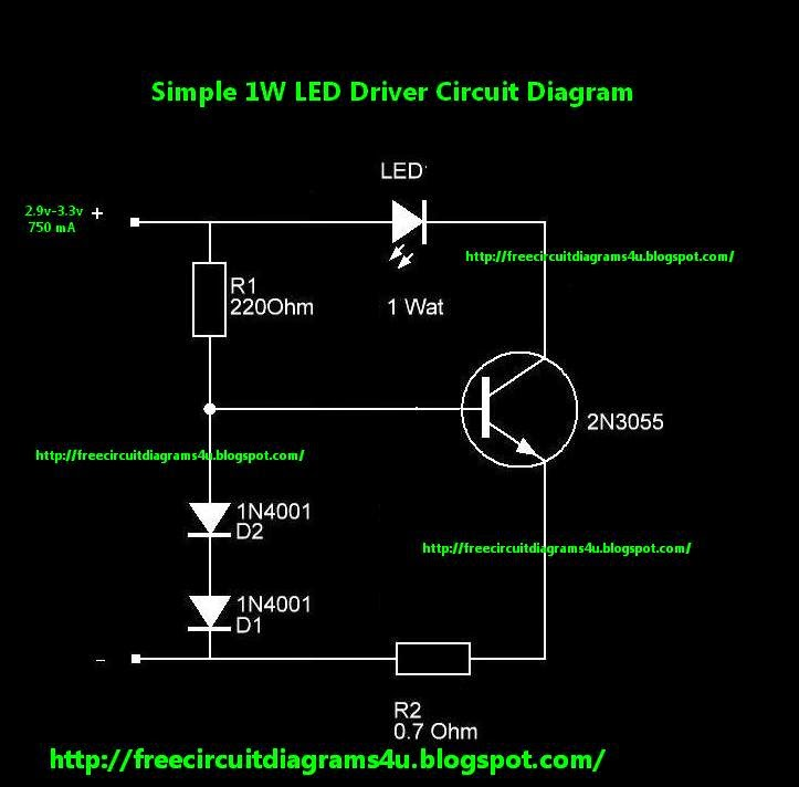Wiring Schematic diagram 1W LED Driver Wiring diagram Schematic