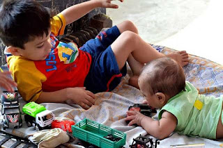 This is a picture of children playing together