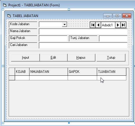 download source coding program Penggajian di vb6