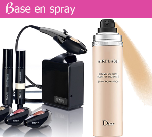 aplicar base maquillaje spray