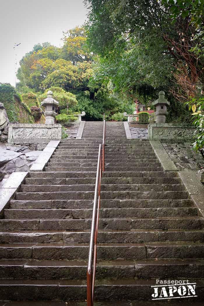 Escalier, temple Sôfuku-ji, Nagasaki