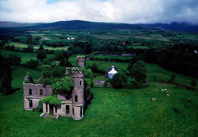 قصر مهجور تسكنه الأشجار – ايرلندا