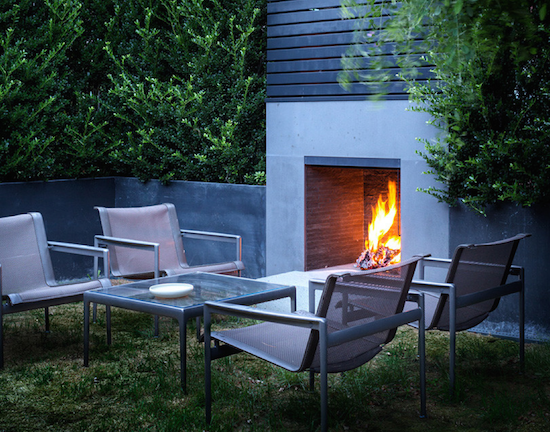 outdoor fireplace the zhush nyc ues townhouse