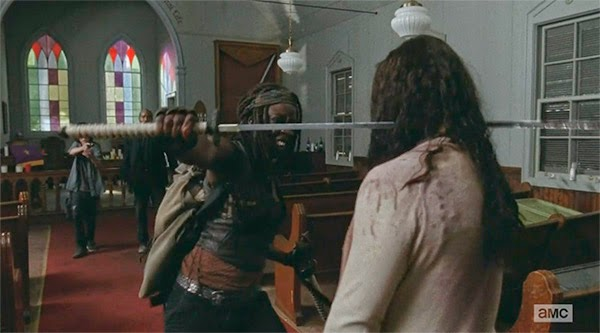Michonne en The Walking Dead 5x08 - Coda