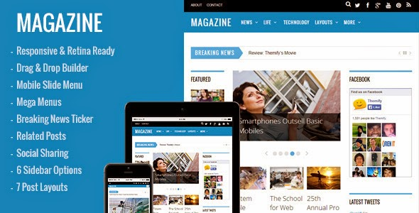 Premium Magazine Responsive WordPress Theme