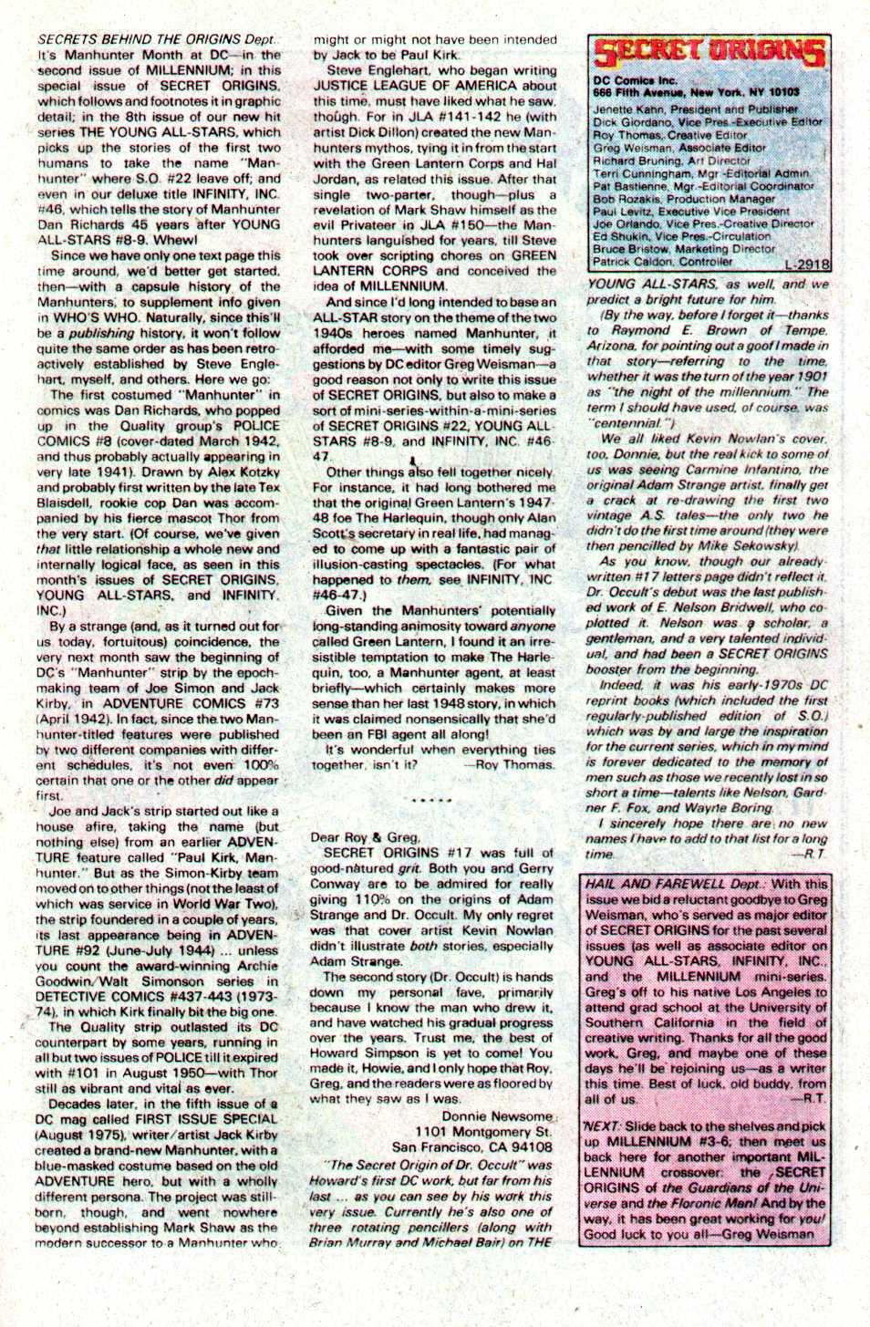 Read online Secret Origins (1986) comic -  Issue #22 - 40