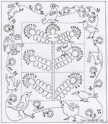 2012 Block of the Month Earth 'n Twig « Sue Spargo