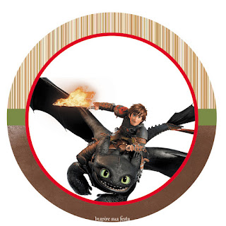 Toppers or Free Printable Candy Bar How to Train your Dragon Party Labels.